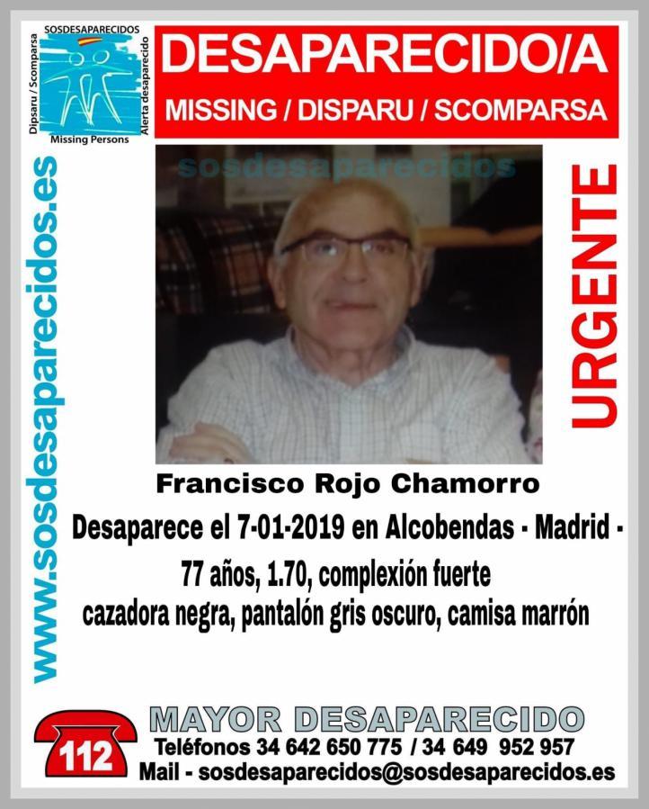 Desaparecido desde el lunes un anciano visto por última vez en Alcobendas