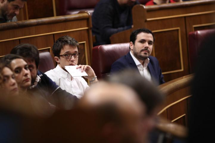 Íñigo Errejón y Alberto Garzón en el Congreso de los Diputados.