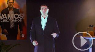 El holograma de Rivera, la novedad del inicio de campaña