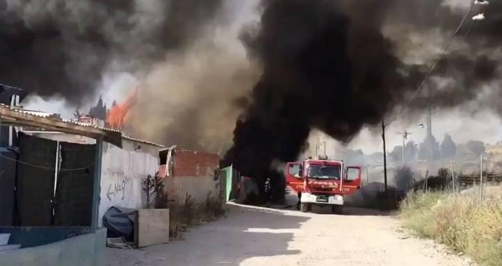 Varias infraviviendas, calcinadas en un incendio en Móstoles