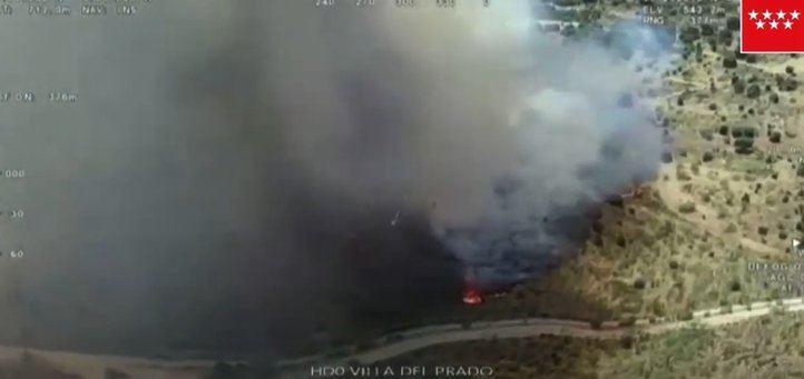 Incendio en Villa del Prado.