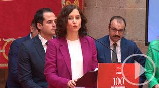 Ayuso y Aguado celebran cien días 'unidos' pese a Vox