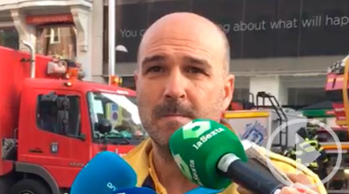 El portavoz de Emergencias Madrid explica el incendio de Gran Vía