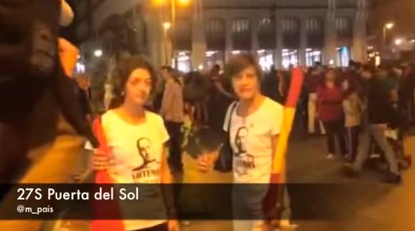 La discusión entre dos manifestantes franquistas y dos jóvenes negros que se ha hecho viral en la red