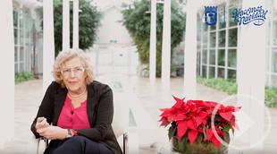 La alcaldesa de Madrid felicita la Navidad