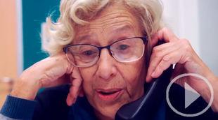 Carmena irrumpe en campaña pidiendo el voto por teléfono