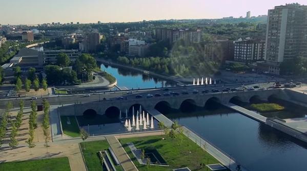 Madrid Rio desde el aire