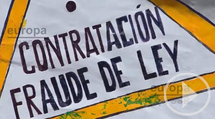 Protesta hasta Génova de los trabajadores temporales