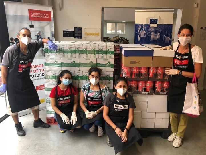 Mercadona dona a la Fundación Altius-1 kilo de ayuda, 3,1 toneladas de alimentos