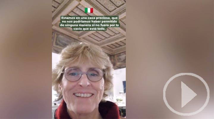 Mercedes Milá, atrapada en Roma