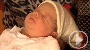 Mía, uno de los primeros bebés de 2019 en Madrid