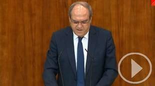 Gabilondo se abre a la moción de censura contra el Gobierno