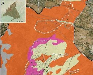 Imagen del estudio sobre el mapa de riesgo de la localidad de Moralzarzal.