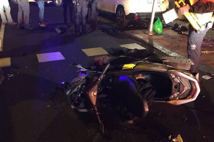Estado en el que quedó la motocicleta tras el accidente