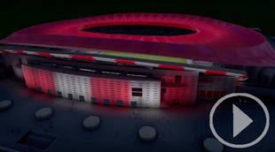 El nuevo estadio del Atlético de Madrid, el primero en el mundo con iluminación LED