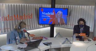 Nieves Herrero y David Pérez en el estudio de Onda Madrid