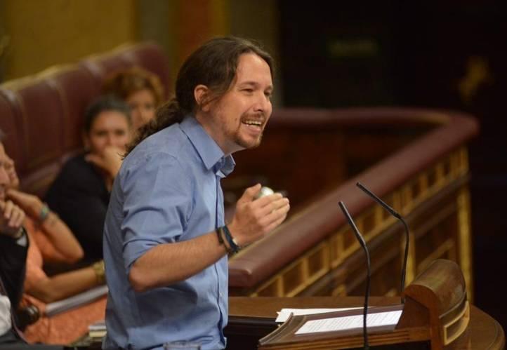 Pablo Iglesias, en la sesión de investidura de Rajoy