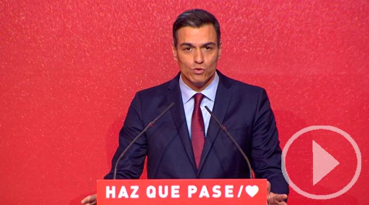 Pedro Sánchez reclama la movilización a las urnas