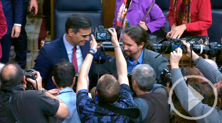 El abrazo y las lágrimas de Pablo Iglesias
