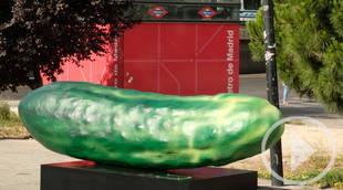 Pepinos gigantes invaden Madrid