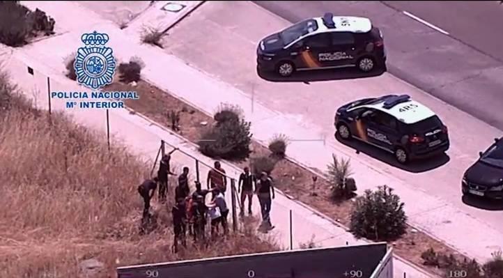 Tres detenidos tras una persecución en helicóptero