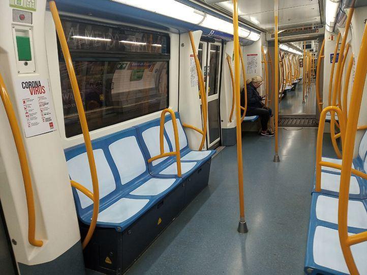 Los viajeros de transporte público de Madrid caen por debajo del 90% respecto al año pasado