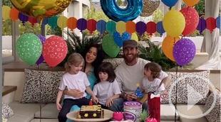 Pilar Rubio y Sergio Ramos en el cumpleaños de su hijo