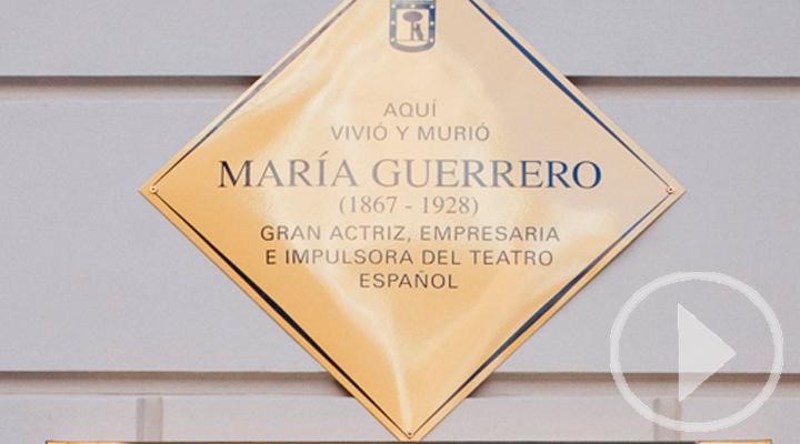 María Guerrero ya tiene placa en su 150 aniversario