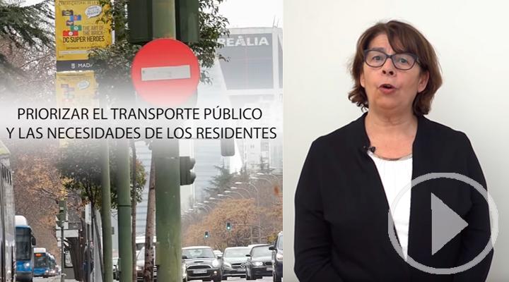 Inés Sabanés presenta el #planAzo, el plan de calidad de aire de Madrid