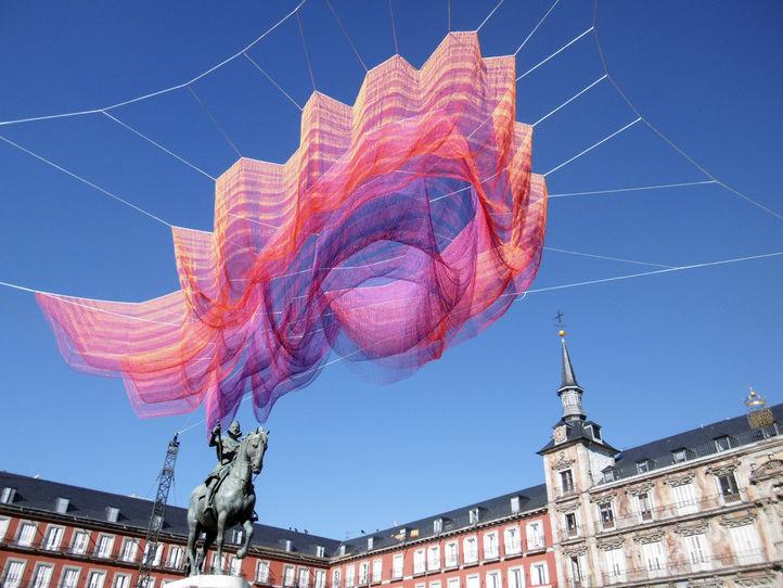 Escultura de la Plaza Mayor para poner la guinda a los actos de celebración del centenario
