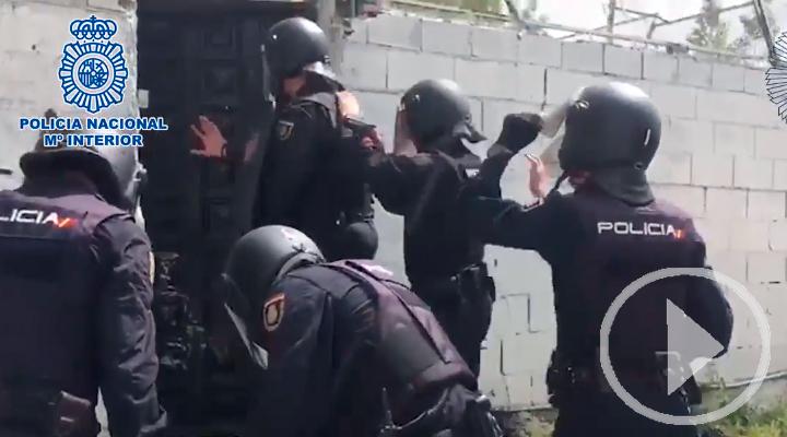 La policía desmantela tres plantaciones de marihuana en la Cañada Real
