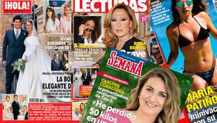 Las portadas de esta semana: Hola, Lecturas, Semana y Diez Minutos.
