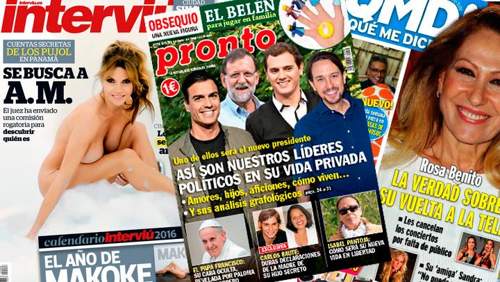 Portadas revistas lunes 14 de Diciembre