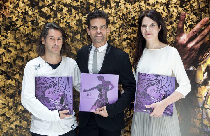 Bernardo Rivavelarde, Antonio Najarro y Mercedes L. Caballero en la presentación del libro