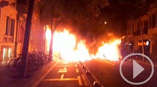 El Gobierno ve 'violencia' en las protestas independentistas