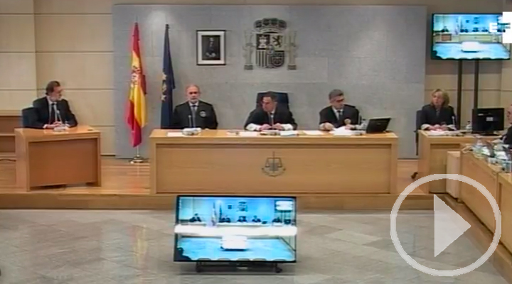 Rajoy testifica en la Audiencia Nacional