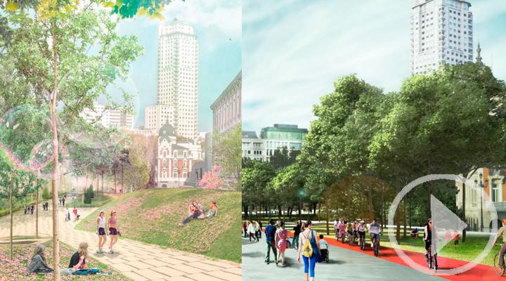 Estos son los dos proyectos finalistas para la votación de la remodelación de la Plaza de España
