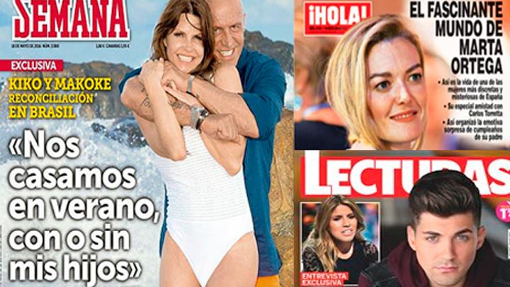 Las portadas de las revistas del corazón de este miércoles 11 de Mayo.