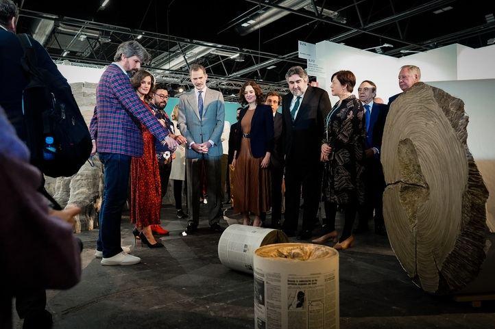 Los Reyes visitan la Feria Internacional de Arte Contemporáneo ARCO