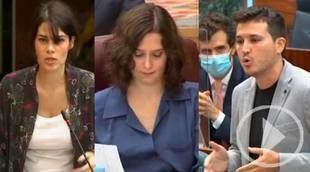 Duras críticas de Podemos y Más Madrid a la gestión de Ayuso