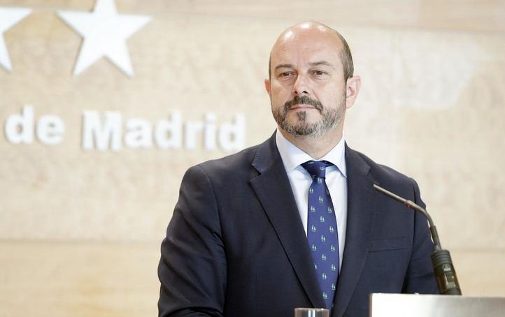 El presidente de la Comunidad de Madrid, Pedro Rollán, en la rueda de prensa posterior al Consejo de Gobierno.