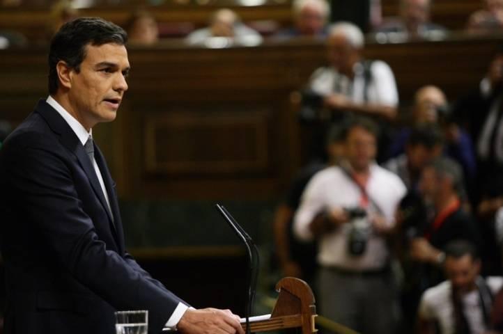 Pedro Sánchez, en su discurso de réplica al candidato a la investidura, Mariano Rajoy