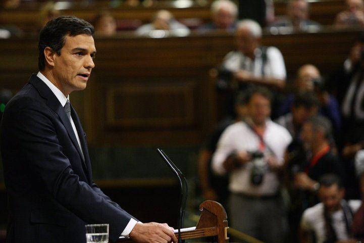 Pedro Sánchez intentó su investidura en 2016 tras alcanzar un pacto con Ciudadanos.