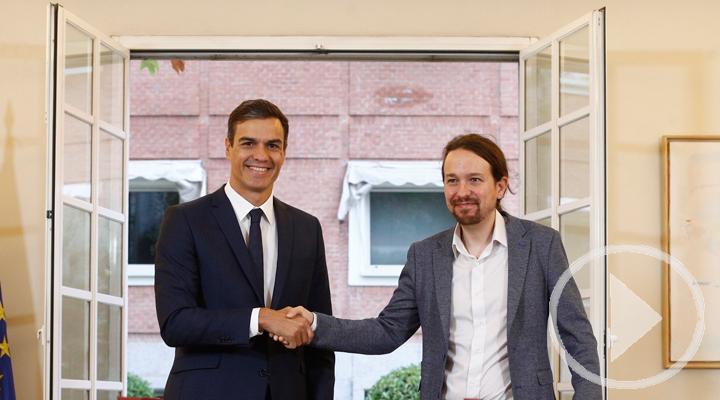 Sánchez e Iglesias acuerdan los Presupuestos de 2019
