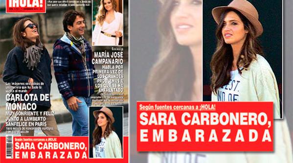 El embarazo de Sara Carbonero, en las revistas de los jueves