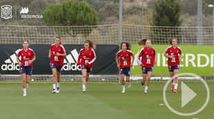La selección femenina de fútbol prepara la EURO 2022 en Las Rozas