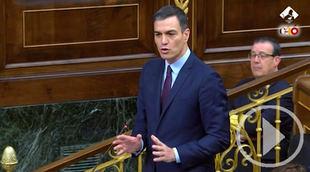 Sesión de control tensa entre Sánchez y la oposición