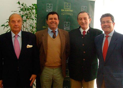 �ngel de la Riva visita el Real Club de Golf de Sevilla