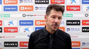 Simeone: 'Lo mejor fue ver a cinco futbolistas entrar y cambiar el partido'