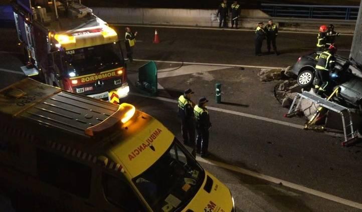 Accidente de tráfico en la M-30